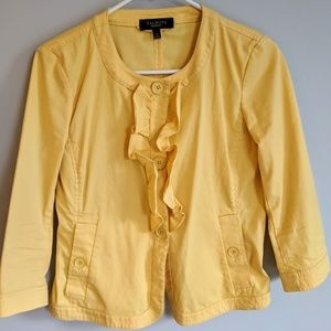 Adorable Talbots Ruffled Blazer